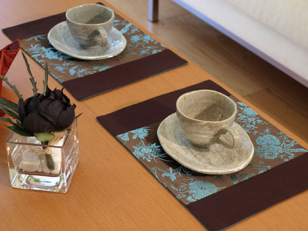 Chinese style fabric mat patchwork table napkin fashion luxury dining table heat pad(China (Mainland))