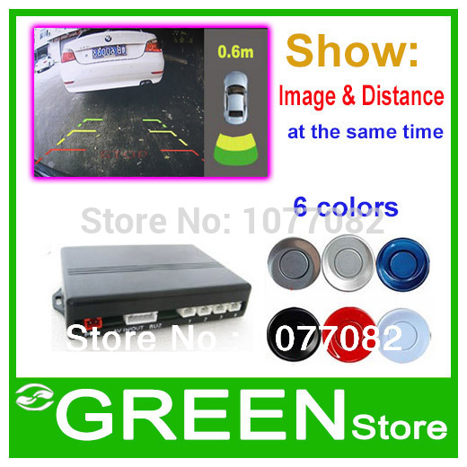 Dual-Core Car Parking Sensor Car Parking Reverse Backup Radar System Show Image& Distance at the same time, Connect Car Monitor(China (Mainl