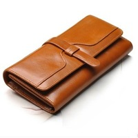 Fashion Wallet Women Genuine Leather ,Women's Cow Real Leather Wallet Purse Long Style Brand Quality Free Shipping