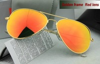 Men's/Women's sunglasses colorful lens and Metallic glasses legs Glass lenses With the case and accessories sunglasses