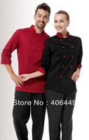 High Quality Unisex Men and Women Chef wear Jacket  chef uniform  hotel restaurant  Long-sleeved chef  coat  CS1002