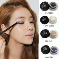 Smooth Makeup Creamy Mousse eye shadow Single color shimmer eyeshadow  long lasting , waterproof