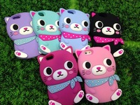 Free shipping Brand new high quality 3D Hello kitty Cover Phone Case For samsung galaxy s4 i9500 galaxy s iv cartoon cases