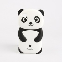 Lovely Panda Pattern Silicone Soft Phone Case for iPhone 4 and 4S (Multi-Color) Free Shipping