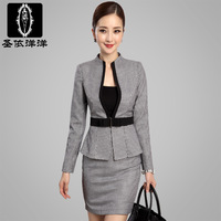 Free shipping New fashion Women's Work wear OL skirt suit set autumn female 3 pieces set High quality Professional Business set