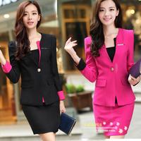 Free shipping New fashion women's suit 2013 autumn formal work wear 3 piece set beauty female work wear suit OL skirt OL set