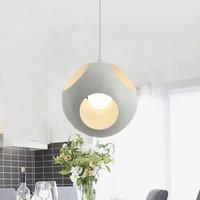 New Modern White/Black droplight wrought iron ball shape pendant lighting for dinning room stury room