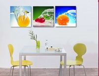 3 Panel Modern  Painting Home Decorative Art Picture Paint on Canvas Prints Fresh fruit 7