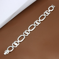 New Arrival 2013 Brand Designer Fashion Women's Jewelry Quality Silver Plated Chain Bracelets Holidays Gift H344