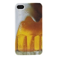 Beer Bubble Pattern Hard Phone Case for iPhone 4/4S Free Shipping