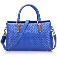 100% genuine leather messenger bag cowhide women's brand handbags cowhide shoulder bags woven totes New arrival women handbag