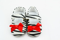 free shipping 6 pairs/lot baby canvas bow-knot shoes anti slip floor shoes first walker infant gift