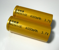 6pcs/lot  Original  Jingang brand flat top  3.7v  real 4000mah  26650 rechargeable battery/flashlight 26650/26650 battery mah