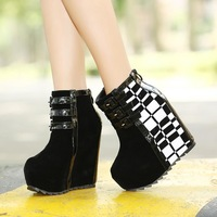 2013 New arrival non-mainstream wedge platform Prevent slippery winter snow boots women fashion  shoes free shipping