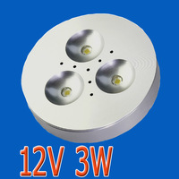 3W 12V DC/AC 300LM LED cabinet lights showcase display counter forniture light surface mounted ceiling spot lamp puck lighting