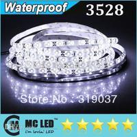 Wholesale - 5M SMD 3528 Waterproof IP65 Flexible 300LED Strip Light Adhesive 12V + Female Plug