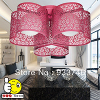 TOP Selling E27*3 Free Shipping Hollow Out Carving Creative Iron LED Chandelier,Sitting room,Bedroom