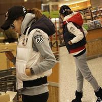 Free Shipping winter,autumn women thickening vest,fashion sport jacket high quality