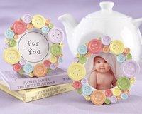 Baby Shower Favors Mini Lovely Button Baby Photo Frame Card Holder Wedding Favors,100pcs/lot