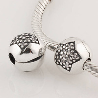 charm bead beads 925Sterling You are a Star with Clear CZ Clip Charm Fits European Style Bracelet