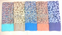 2014 New Women Leopard Scarf/Shawl Different Color Size aroun Fashion Ladies Printed Hijab Pastel Color Design Free Shipping