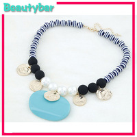 Free shipping Fashion Jewelry Trendy Accessories bohemia elegant big gem pendant exaggerated necklace decoration