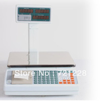 Free Shipping 30kgX5g RECHARGEABLE print scale/printing scale/printer scale/digital/electronic scale