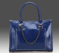 New 2013 Genuine Leather Bags Cowhide Vintage Handbag women messenger bag leather handbags Women's chain Bag Shoulder Bags