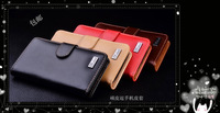 For Nokia lumia 800 genuine leather flip case cover. Luxury Business Card slot cases for lumia800, free flim, free shipping