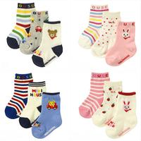 Free shipping 3pairs/lot wholesale Popular Cartoon girls/boys socks Anti slip children hosiery cotton socks