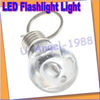 5pcs/lot  LED Flashlight Light Bulb Key Ring Keychain Lamp Torch Value for money +Free shipping
