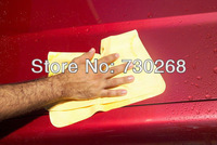 Hot sale Deerskin PVA Chamois Car Care Clean Wash Towel Cloth 43*32*0.2 car wash towel dry hair towel cleaning cloth free ship