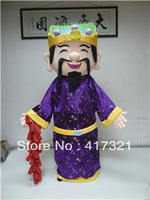 2014 new design god of fortune mascot costume for adult