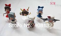 Wholesale - Free shipping  5/Lot High Quality PVC Touhou Project Hakurei Reimu Action Figures / Xmas Gift and retail
