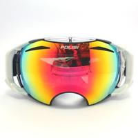 Polisi double layer antimist skiing mirror windproof sand ski eyewear Women wide angle male