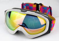 Double layer 2013 anti-fog anti-uv wide angle skiing mirror set myopia glasses