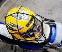 Motorcycle electric bicycle helmet mesh bag debris net rope mesh bag net bag chromophous Large