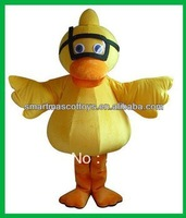 2014 New design yellow diving duck mascot costume for adult
