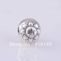 925 ALE Sterling Silver Night and Day Moon, Sun and Star Clip Stopper Bead Fits For European Jewelry Charm Bracelets