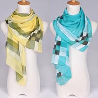 2013 NEWEST,160cmx50cm,ladies shawls scarf, classical check print silk Drape patchwork scarf! Free shipping!