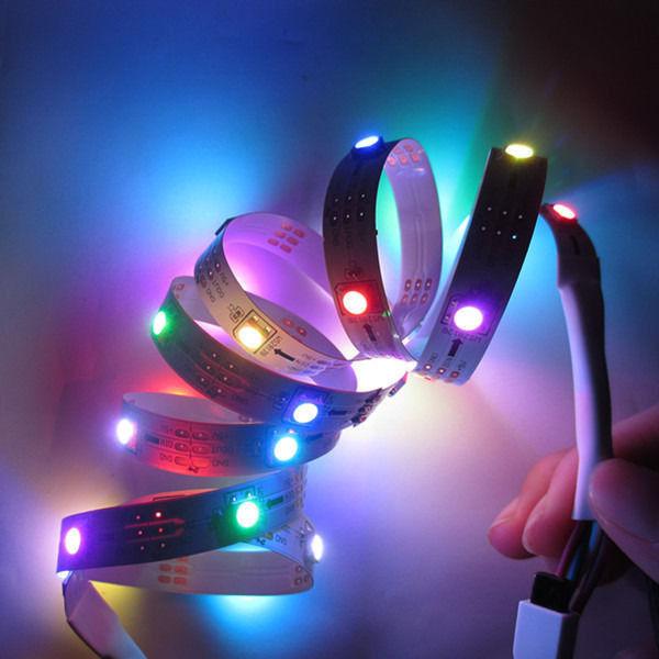 4x 5M 20M 5050 SMD RGB WS2812 2812 WS2812B LED Strip Light LED Light Rolls 5V DC(China (Mainland))