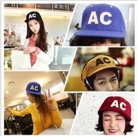 Autumn and winter woolen ac flat along the cap hiphop skateboard cap baseball cap male women's hip-hop hat