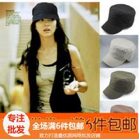 Hat fashion cadet military cap hat outdoor cap flat brim general casual