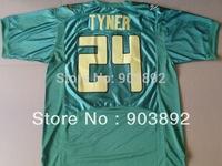 Ncaa Oregon Ducks #24 Thomas Tyner green college football jerseys mascot patch mix order free shipping