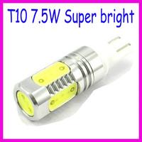Wholesale car light source T10 7.5w car led bulb led wedge bulb 194 168 192 W5W LED lamp Waterproof Ip68