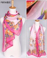 Retail! 2013 Newest style fashion flowers printed lady's silk like chiffon georgette scarf/shawl! JZ004