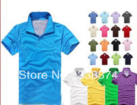 new 2013 men's polo shirts, men's cotton short sleeve T-shirt, 21 color, 4 sizes/free shipping