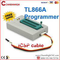 Free Shipping TL866A programmer(Newest version), ICSP SPI in-circuit, support win7, win8 Best quality Low price, with retail Box