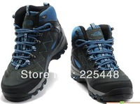 FREE SHIPPING Autumn and winter waterproof leather high-top hiking shoes winter warm shoes cross country running shoes women