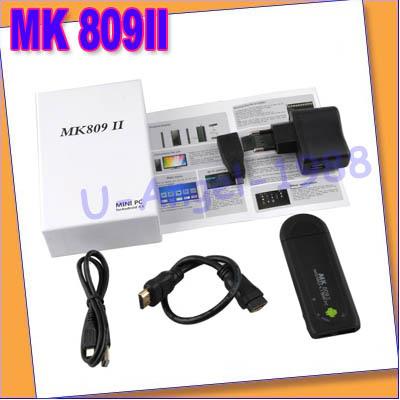 Original Mini Dual Core MK809 II Android 4.1 PC Google TV Box With 1.6GHz RAM 1GB+ROM 8GB EU plug+free shipping(China (Mainland))